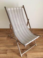 1 alter Strandstuhl Strandliegestuhl aus