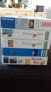 5 Puzzle je 1000 Teile