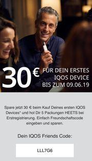 IQOS Gutschein Code 30 180