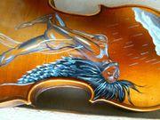 Alte Geige Gemälde Engel Geigenbauer