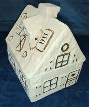 Keksdose Knusperhaus Lebkuchenhaus aus Keramik
