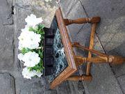 Blumenhocker mit Marmorplatte unbeschädigt