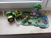 playmobil Garten und Traktor gebraucht