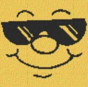 Vorlage für Ministeck Smiley20 40x40cm