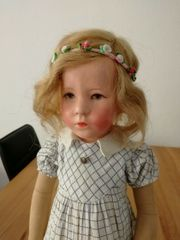 Antike Käthe Kathe Kruse Brustblatt-Puppe