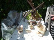 3 Hühner aus einem Tongemisch