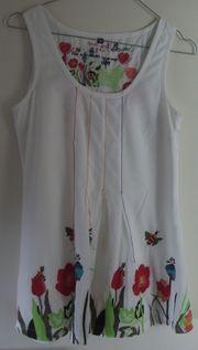 DESIGUAL Shirt M mit Blumenapplikation