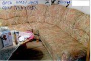 WOHNLANDSCHAFT Couch Rundecke Sessel und
