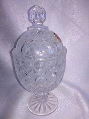 Bonbonglas Bonboniere aus Bleikristall von