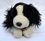 Stofftier schwarzweißer Hund Toby von