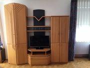 Wohnzimmerschrank Schrankwand Wohnwand Buche massiv