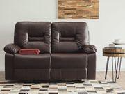 2-Sitzer Sofa Kunstleder braun verstellbar