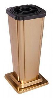 Grabvase bronzefarben Vase mit Einsatz