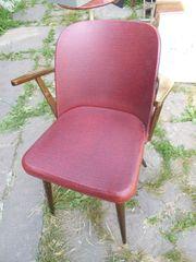 50er Jahre Stuhl mit Armlehnen