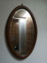 Spiegel antik mit Holzrahmen
