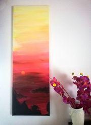 Acrylbild breathtaking sunset Unikat