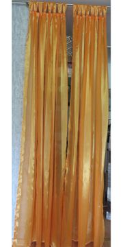 1 Paar Deko Schals Schlaufen-Vorhang