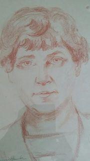 margot Semmler Malerin Selbstporträt