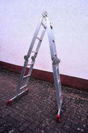 Alu-Leiter Zweiseitig Stufenleiter