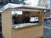 Punschhütte Adventhütte Glühweinstand Markthütte Gartenhütte