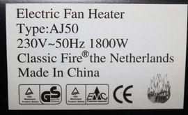 Heizgerät Electric Fan Heater 1800Watt: Kleinanzeigen aus Belzig - Rubrik Öfen, Heizung, Klimageräte
