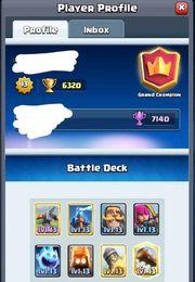 clash royale maxed acc