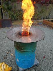 Feuertonne inkl Feuerplatte Grillplatte