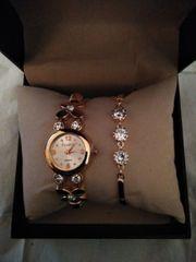 Damenuhr und Armband