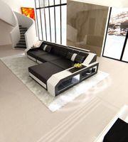Designer Sofa Couch schwarz weiß