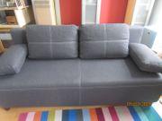 Sofa Couch grau mit Bettfunktion