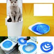 Katzen WC-Sitz Training System Katzentoilette