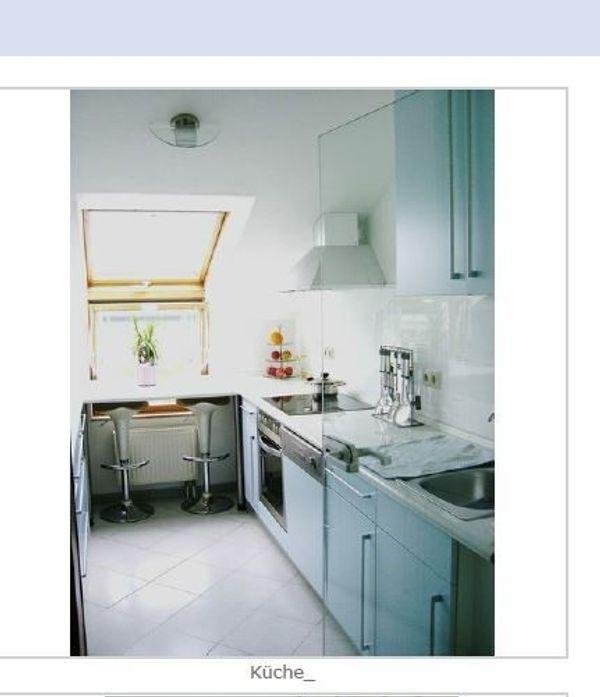 KA-Oberreut Teilmöblierte 3-Zimmer-Dachgeschosswohnung Loggia ab