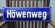 altes Straßenschild Emailleschild gewölbt Höwenweg