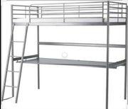 Ikea Hochbett SVÄRTA Schreibtisch Matratze
