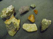 Mineralien Steine Konvolut Sammlung