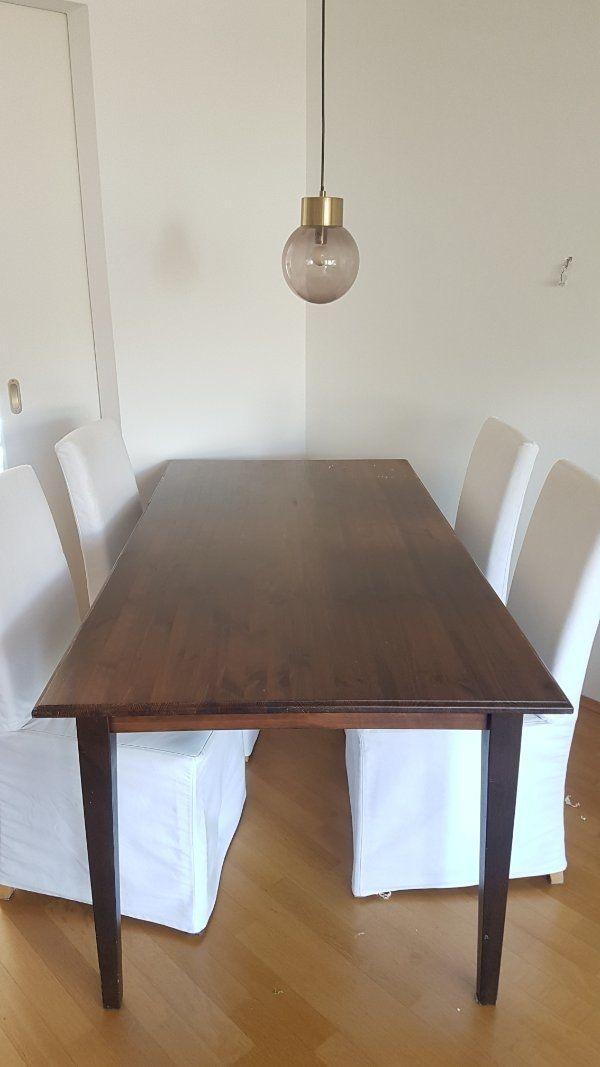 Esstisch Von Ikea Mit Vier Stuhlen Hendriksdal In Tutzing
