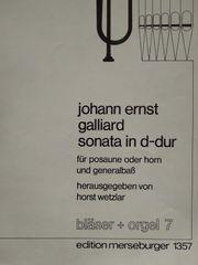 Klaviernoten Orgelheft johann ernst galliard