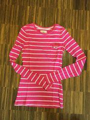 Hollister Langarmshirt Pink-Weiß-Gestreift Größe XS