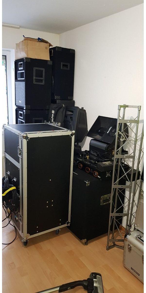 PA Anlage mit Lichtanlage DMX