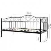 schwarzes Metal Bett