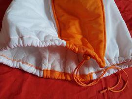 Motorräder Verschiedenes - Motorradhelmhülle Org Schubert weiss orange