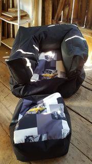 Sitzsack mit Fussauflage