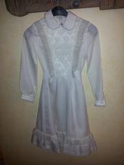 Kurzes weißes Kleid Gr 128