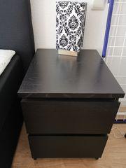 2x Ikea Malm Nachtschrank-Nachttisch