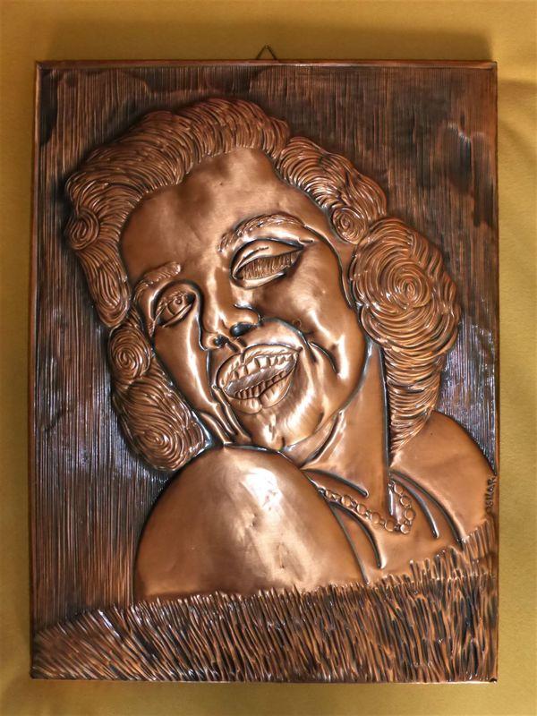 Marilyn Monroe Kupferbild Unikat 40
