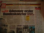 Bild Zeitungen 50 Jahre Deutschland