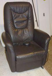 Relax-Sessel - elektrisch verstellbar - Lede braun