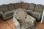 Eck-Sofa mit Sessel