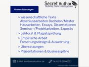 Ghostwriting Ghostwriter Bachelor Master Hausarbeit