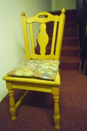 6 Stühle aus massiver heller